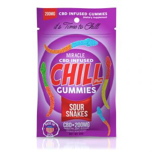 Miracle Chill Plus Gummies - CBD Infused Sour Snakes