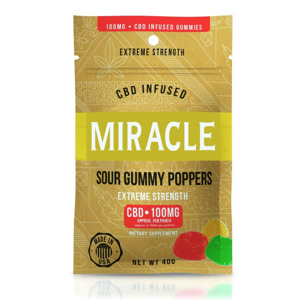 Miracle Gummies - CBD Infused Sour Gummy Poppers - 100mg