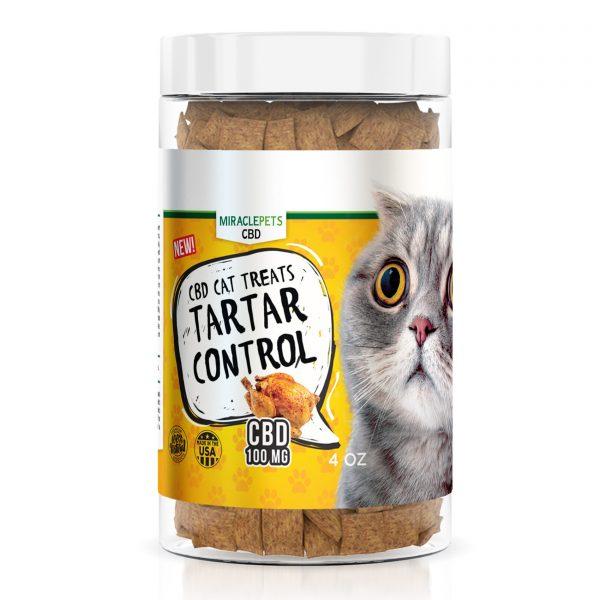 MiraclePets CBD Cat Treats - Cat Cafe´ Tartar Control